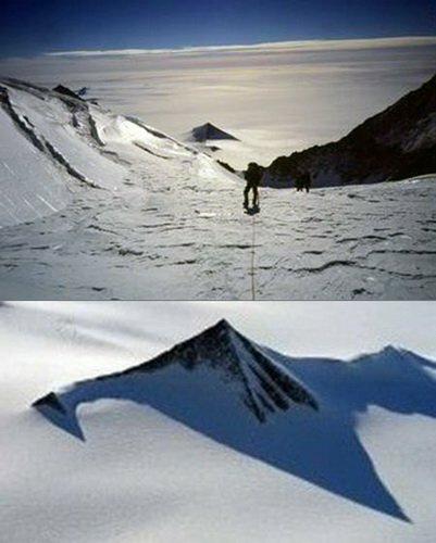 Пирамиды древних цивилизаций обнаружены в Антарктиде.
