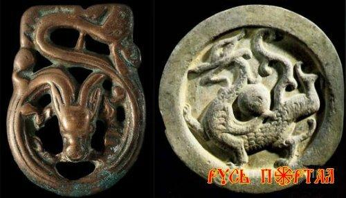 Изображение дракона в Сибири.